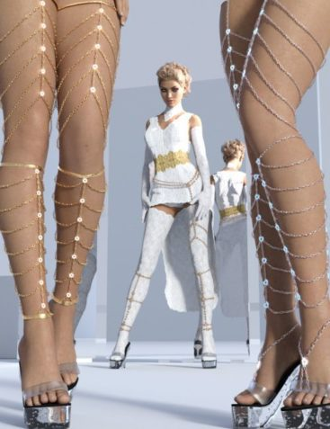 Leg Chains for Genesis 3 and Genesis 8 Female(s)