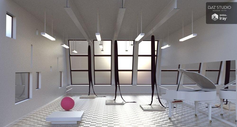 Dance Time - Aerial Studio and Poses for Genesis 8 Female - scenes-props, poses, daz-poser-carrara
