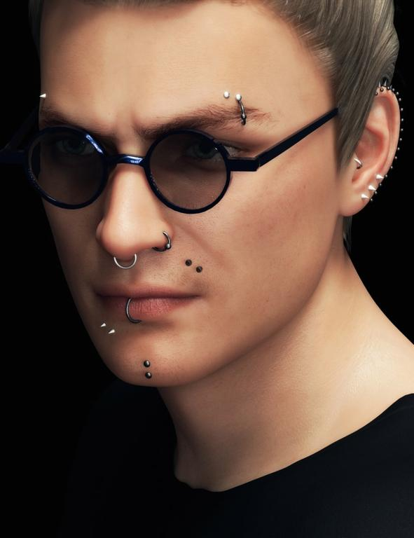 Piercing Collection for Genesis 8 Male(s)