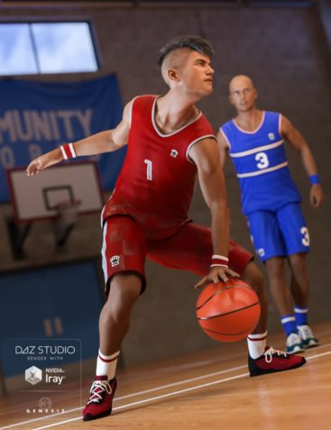 Basketball Kit for Genesis 3 Male(s)