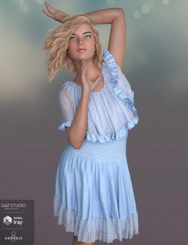dForce Fiona Dress for Genesis 8 Female(s)