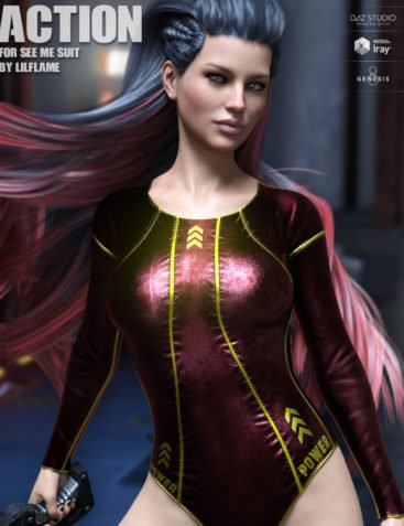 Action for See Me Suit for Genesis 8 Females