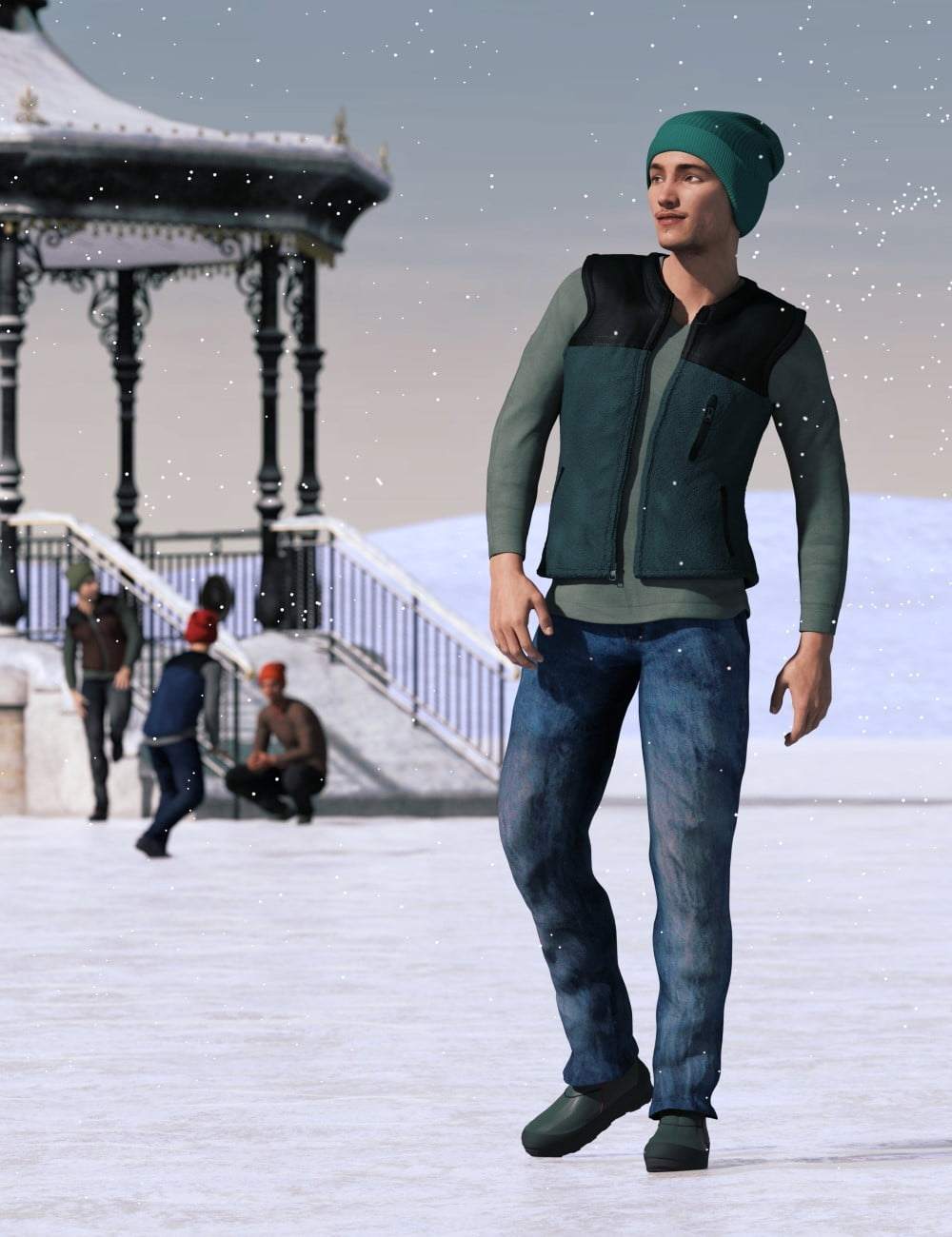 IJ Contemporary Winter Outfit for Genesis 3 Male(s)