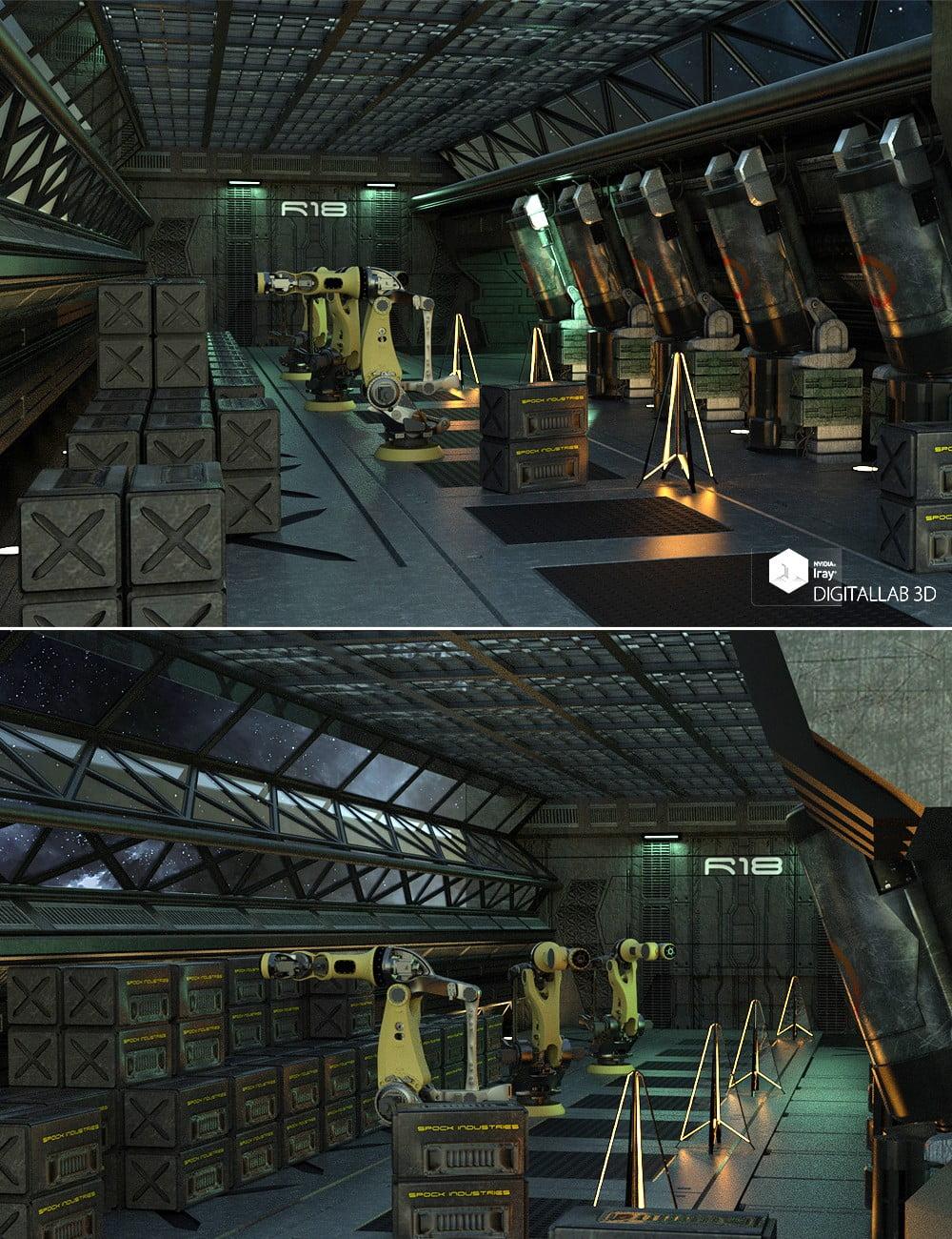 Reactor Room - scenes-props, daz-poser-carrara