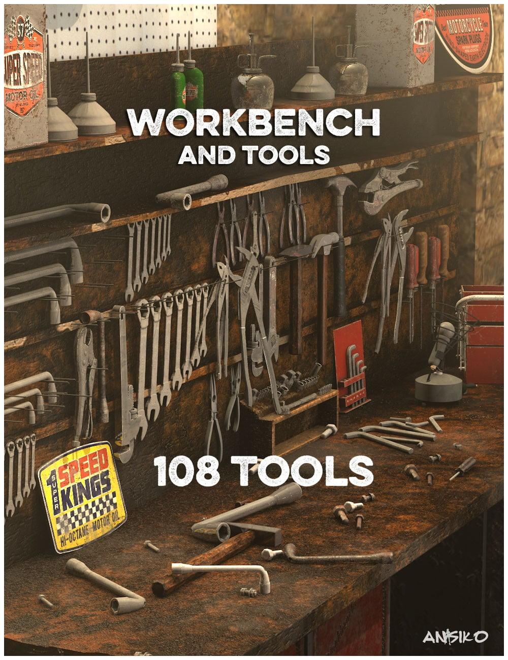 Workshop Workbench - scenes-props, daz-poser-carrara