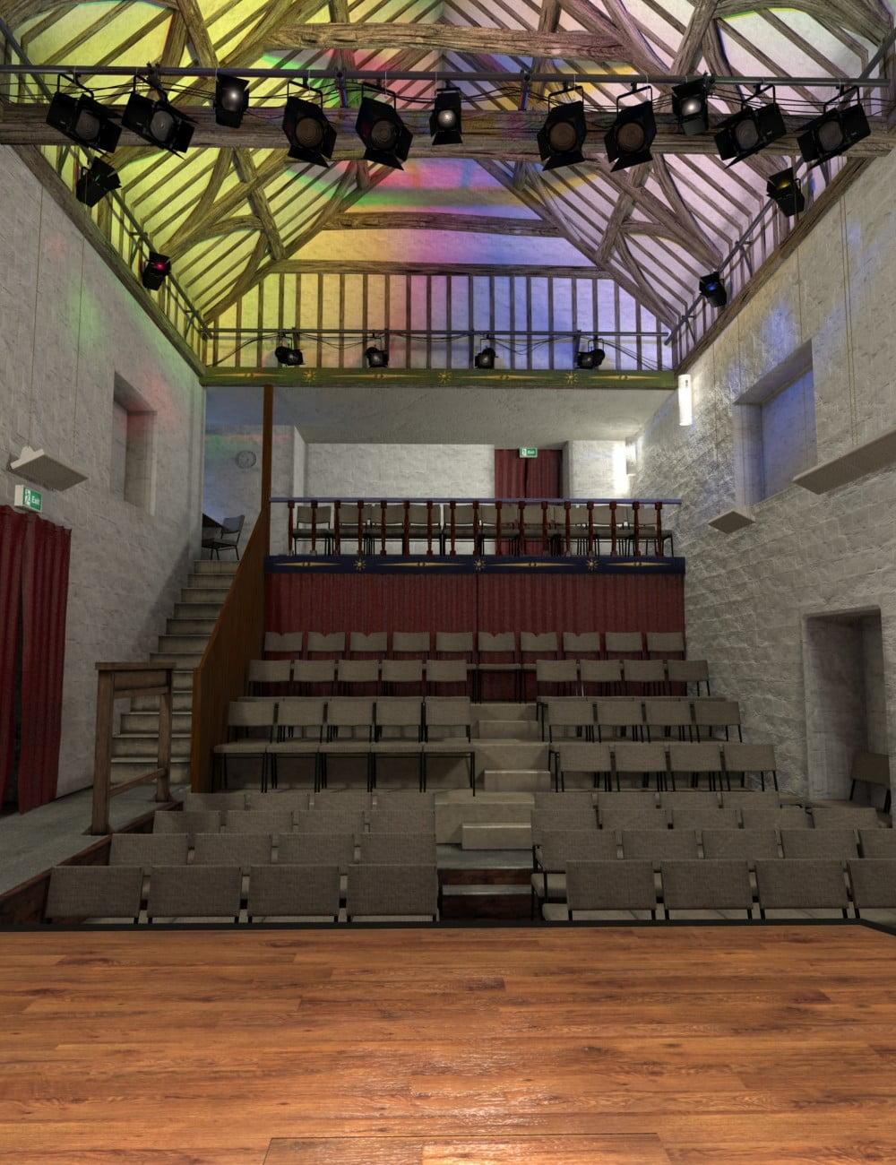 Rustic Theatre - scenes-props, daz-poser-carrara