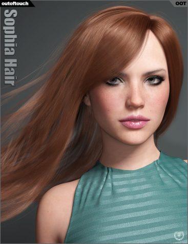 Sophia Hair for Genesis 3 and 8 Female(s)