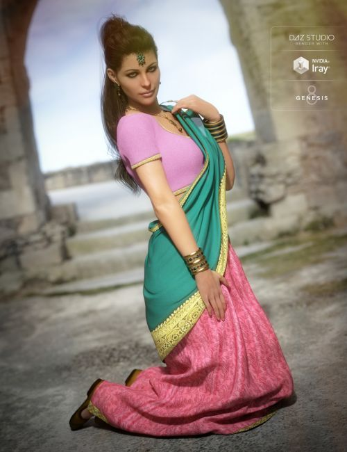 Saree for Genesis 8 Female and Victoria 8