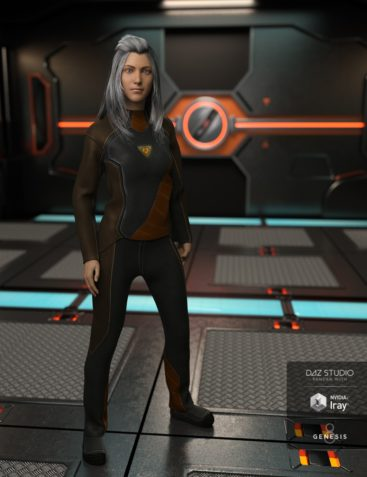 Space Explorer Uniform for Genesis 8 Female(s)