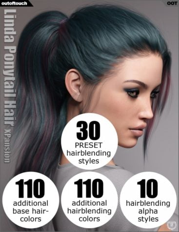 OOT Hairblending 2.0 Texture XPansion for Linda Ponytail Hair