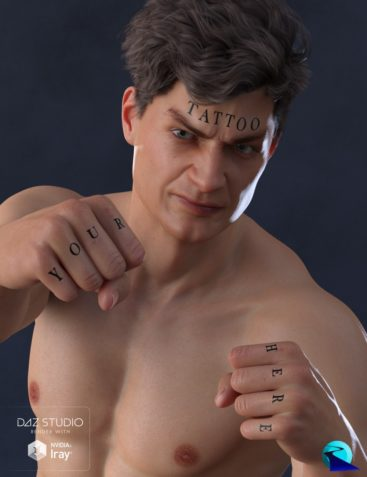 Word Tattoo for Genesis 3 and 8 Male