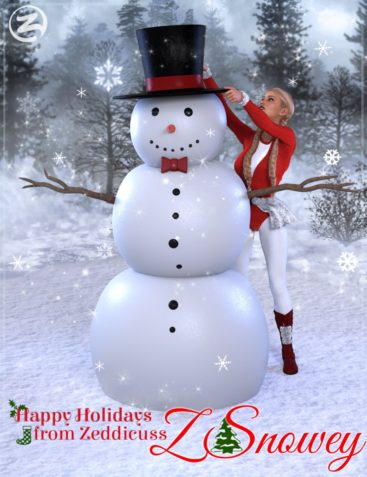 Z Snowey - Snowman and Poses for Genesis 3 & 8 Female
