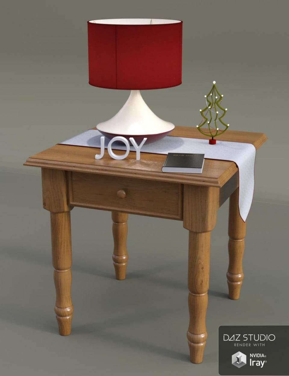 WDJ Christmas End Table