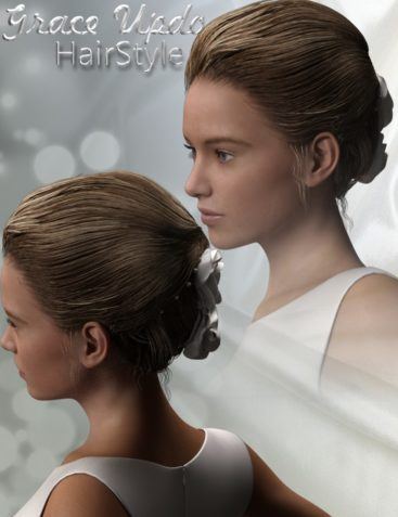 Grace Updo HairStyle for Genesis 3 Female(s)