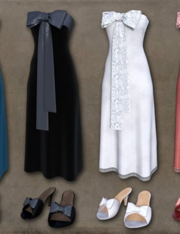 dForce Bow Dress for Genesis 8 Female(s)