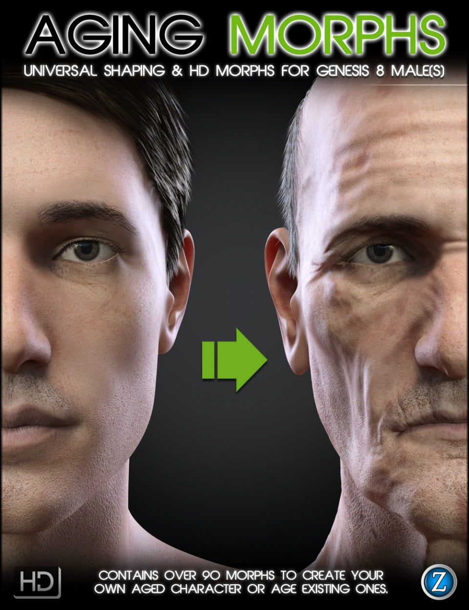 Aging Morphs for Genesis 8 Male(s)