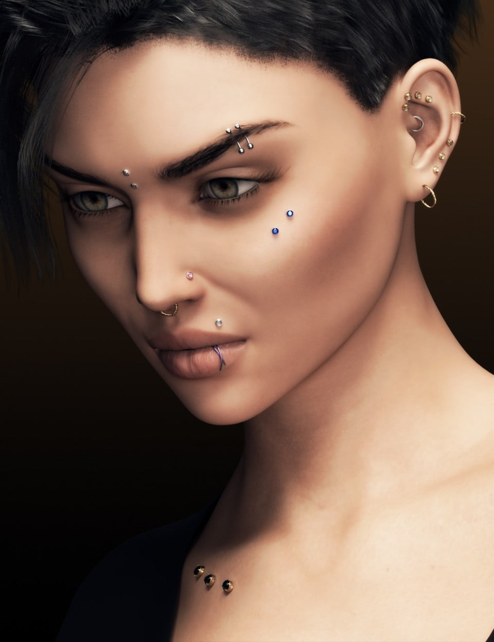 Alternative Piercing Pack for Genesis 8 Female