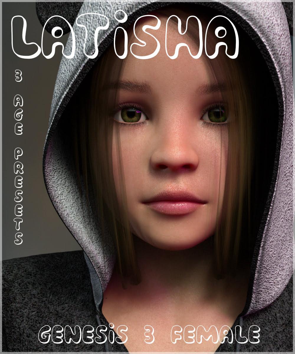 Latisha - Genesis 3 Female - character, daz-poser-carrara
