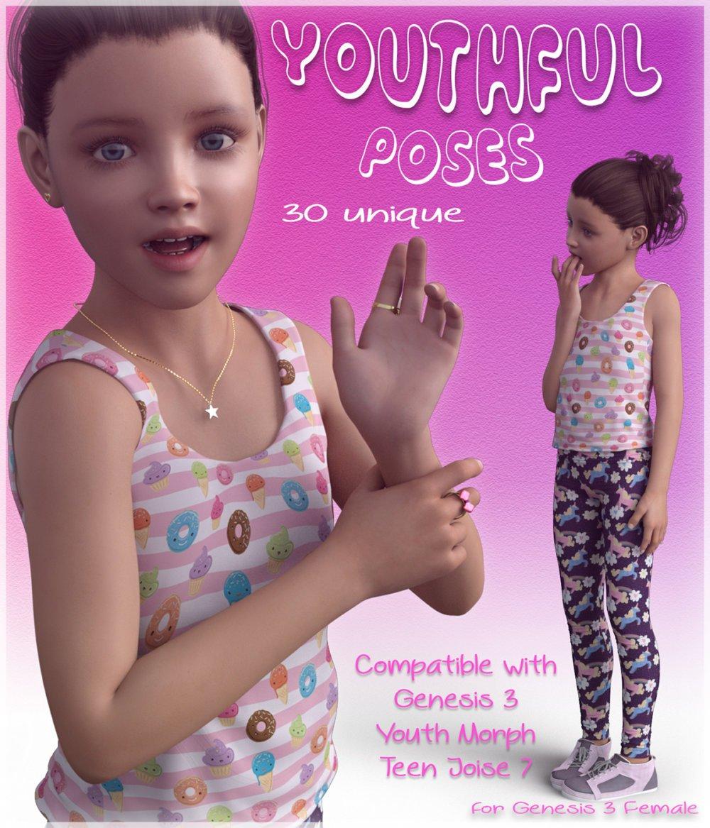Youthful Poses - G3F - poses, daz-poser-carrara