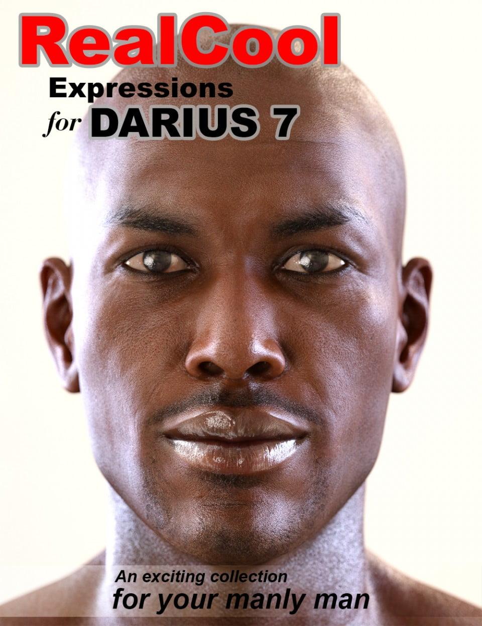 RealCool Expressions for Darius 7 - poses, daz-poser-carrara
