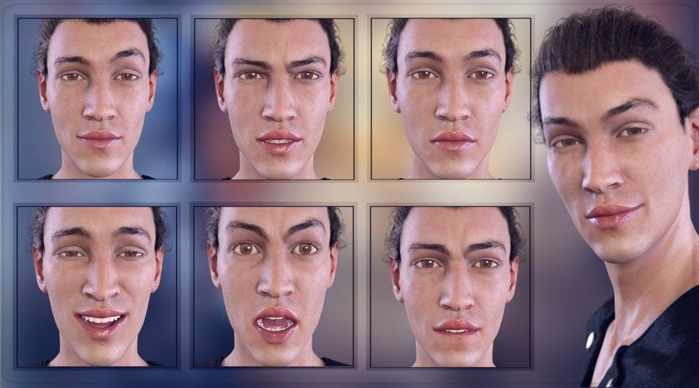 Z Temperamental - Morph Dial & One-Click Expressions for Elijah 7 - poses, daz-poser-carrara