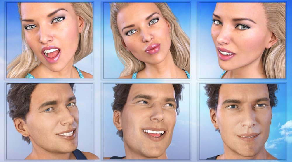 Z So Much Fun - Morph Dial and One-Click Expressions - poses, daz-poser-carrara