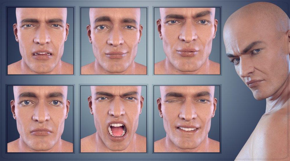 Z Hunk - Morph Dial and One-Click Expressions for Dante 7 - poses, daz-poser-carrara