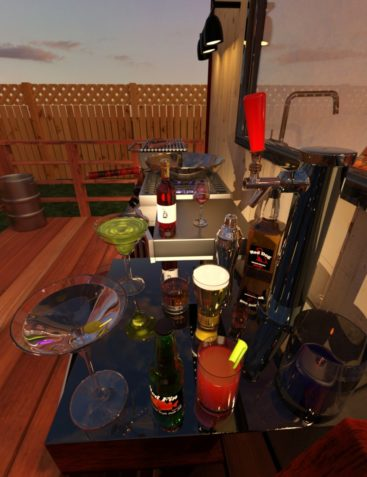 Tiny House and Deck Entertainment Props