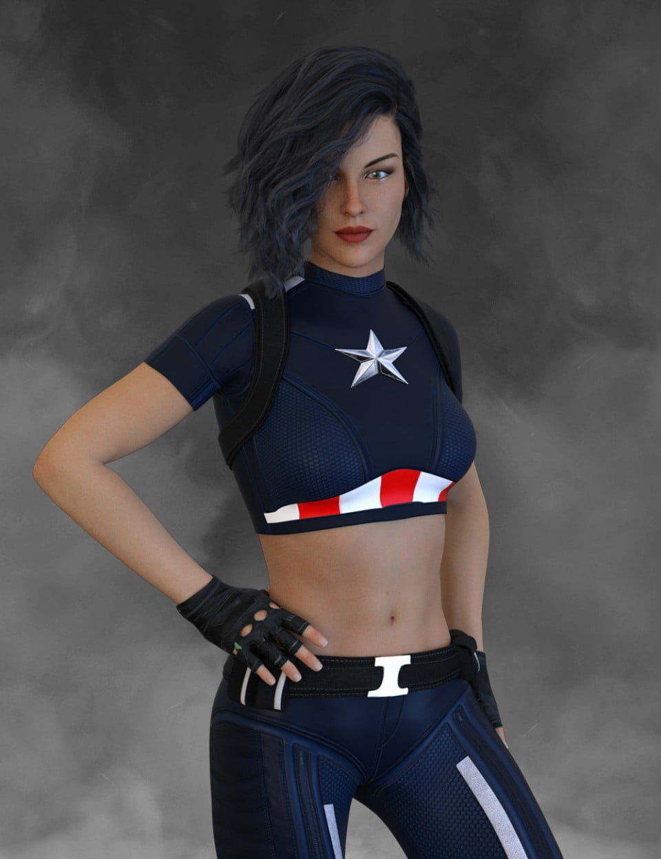 X-Fashion America Outfit for Genesis 8 Female(s)