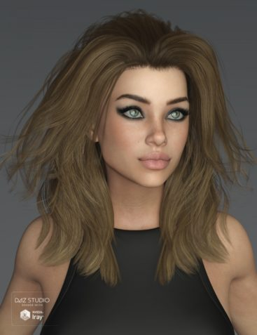 Kim Hair for Genesis 3 and 8 Female(s)