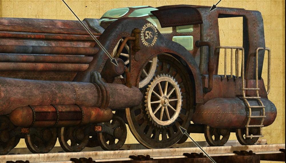 Clockwork Train Locomotive