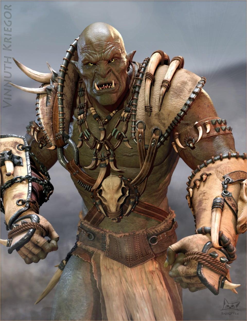 Vinnuth Kriegor Battle Mega Armor for Genesis 8 Male(s)