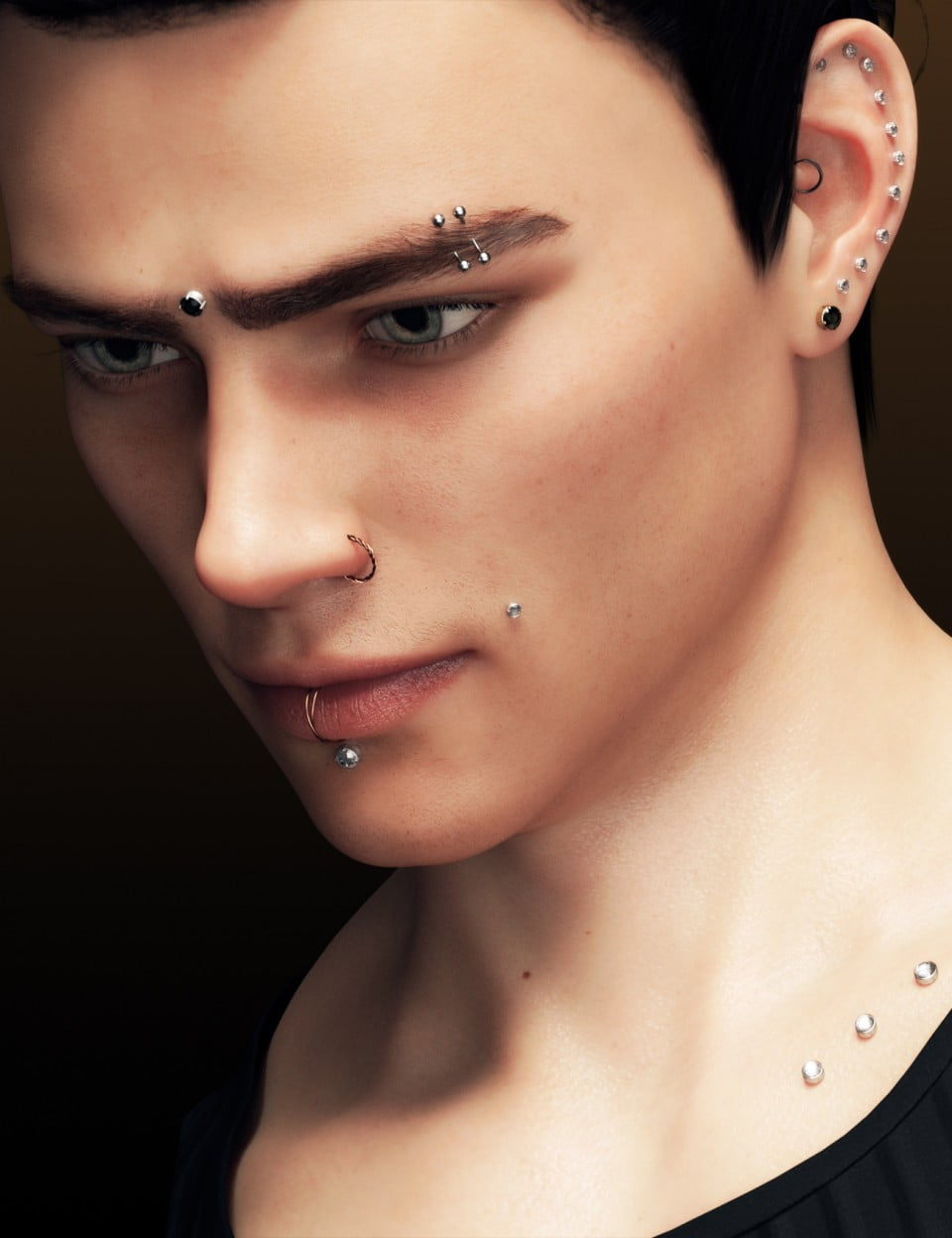 Alternative Piercing Pack for Genesis 8 Male