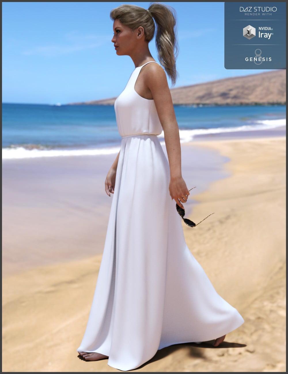 dForce Maxi Dress for Genesis 8 Female(s)