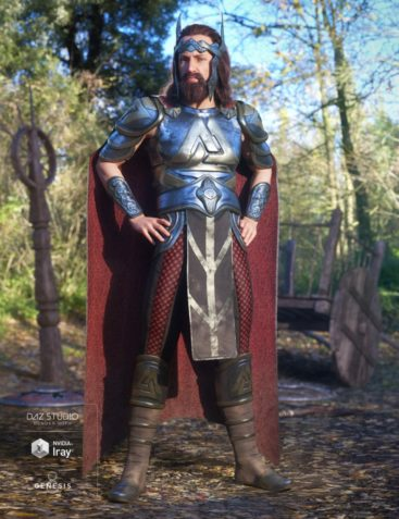 dForce Warrior King Outfit for Genesis 8 Male(s)