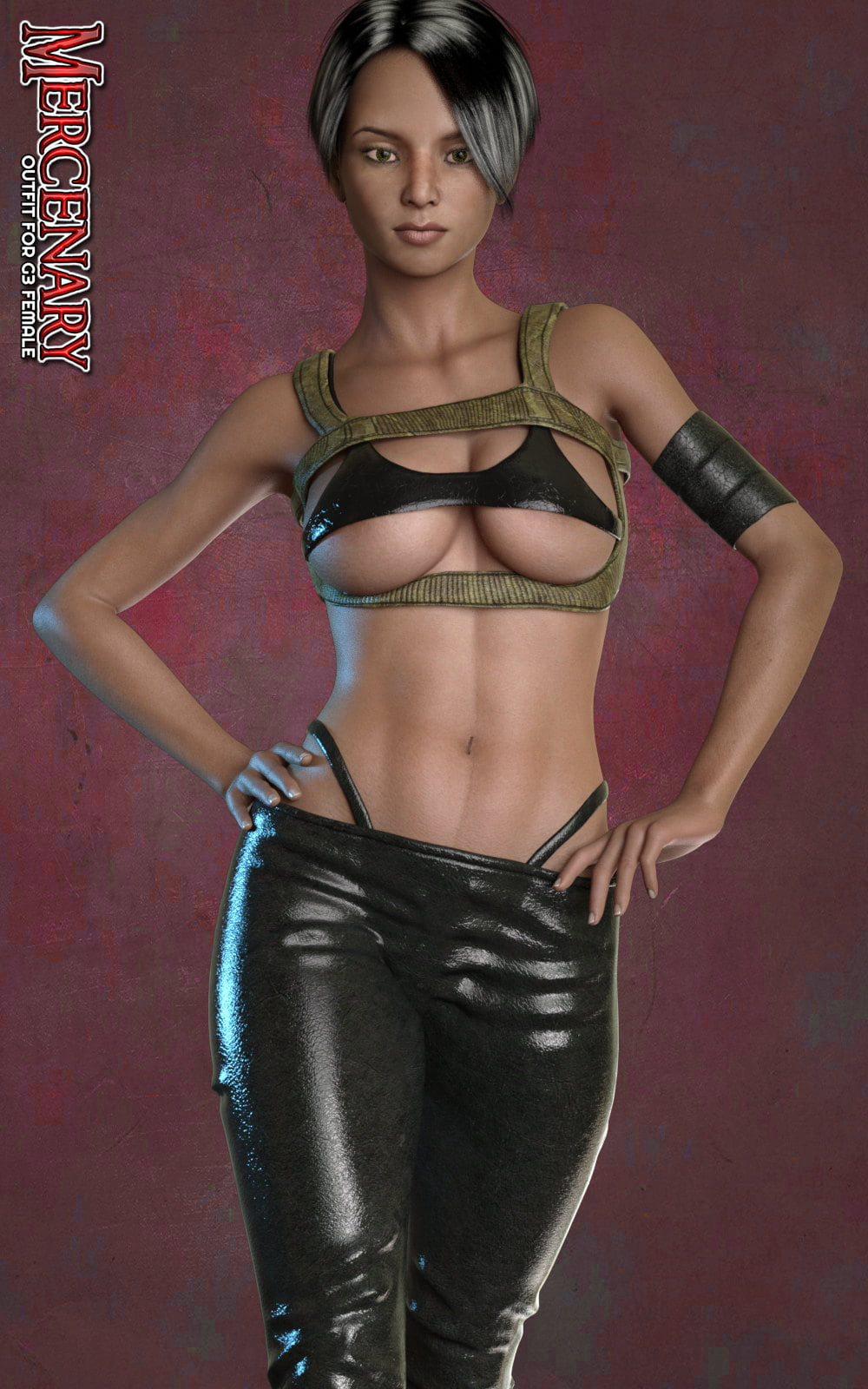 Exnem Mercenary for G3 Female - clothing, daz-poser-carrara