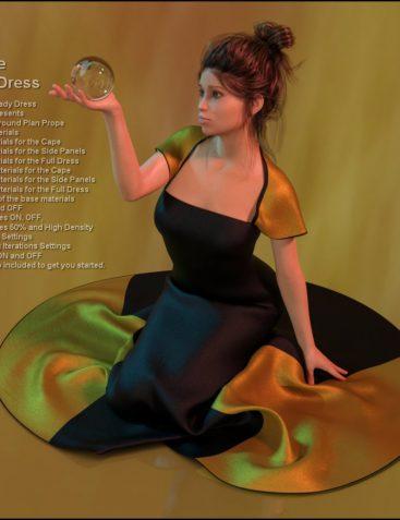 dForce-Cape Dress for G8F
