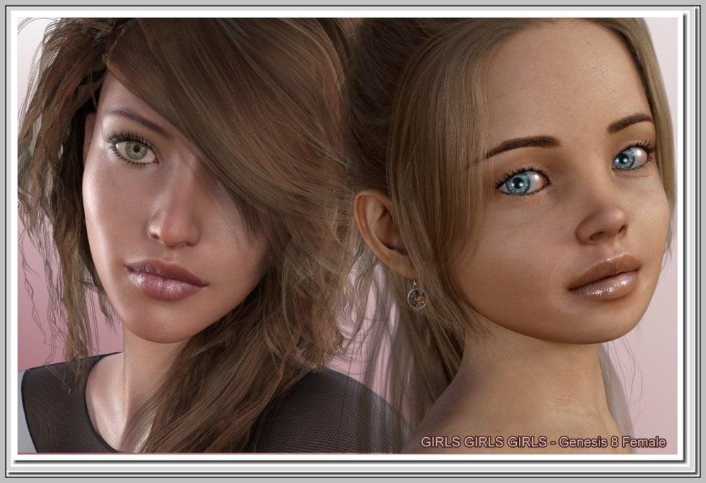 Girls Girls Girls - G8F 16 Characters - character, daz-poser-carrara