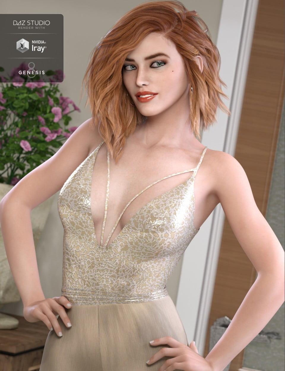 HP Hadlee for Genesis 8 Female - character, daz-poser-carrara