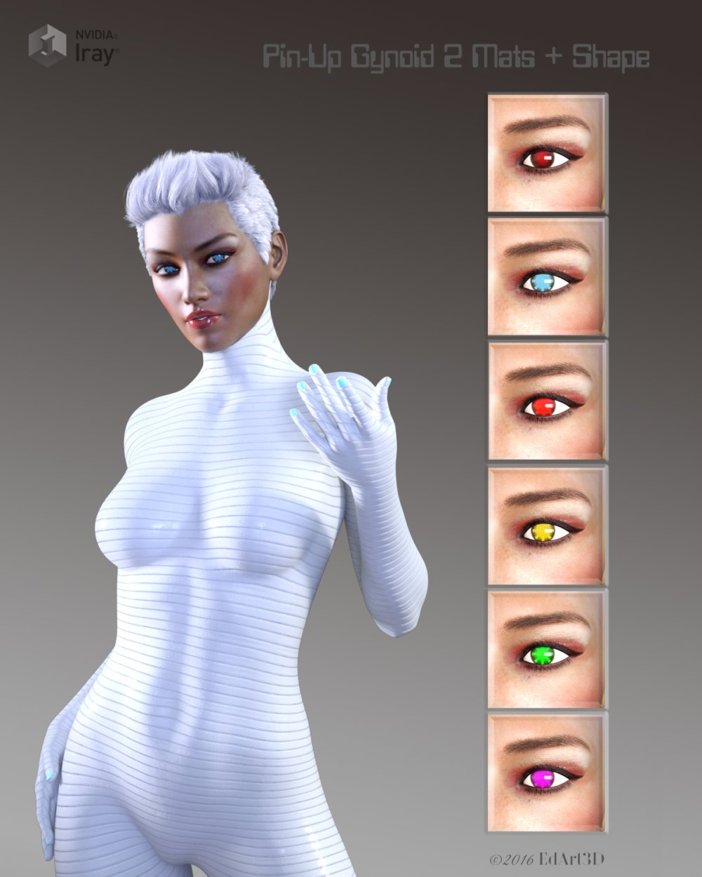 Pin-Up Gynoid Phase2 for G3F-V7 - character, daz-poser-carrara
