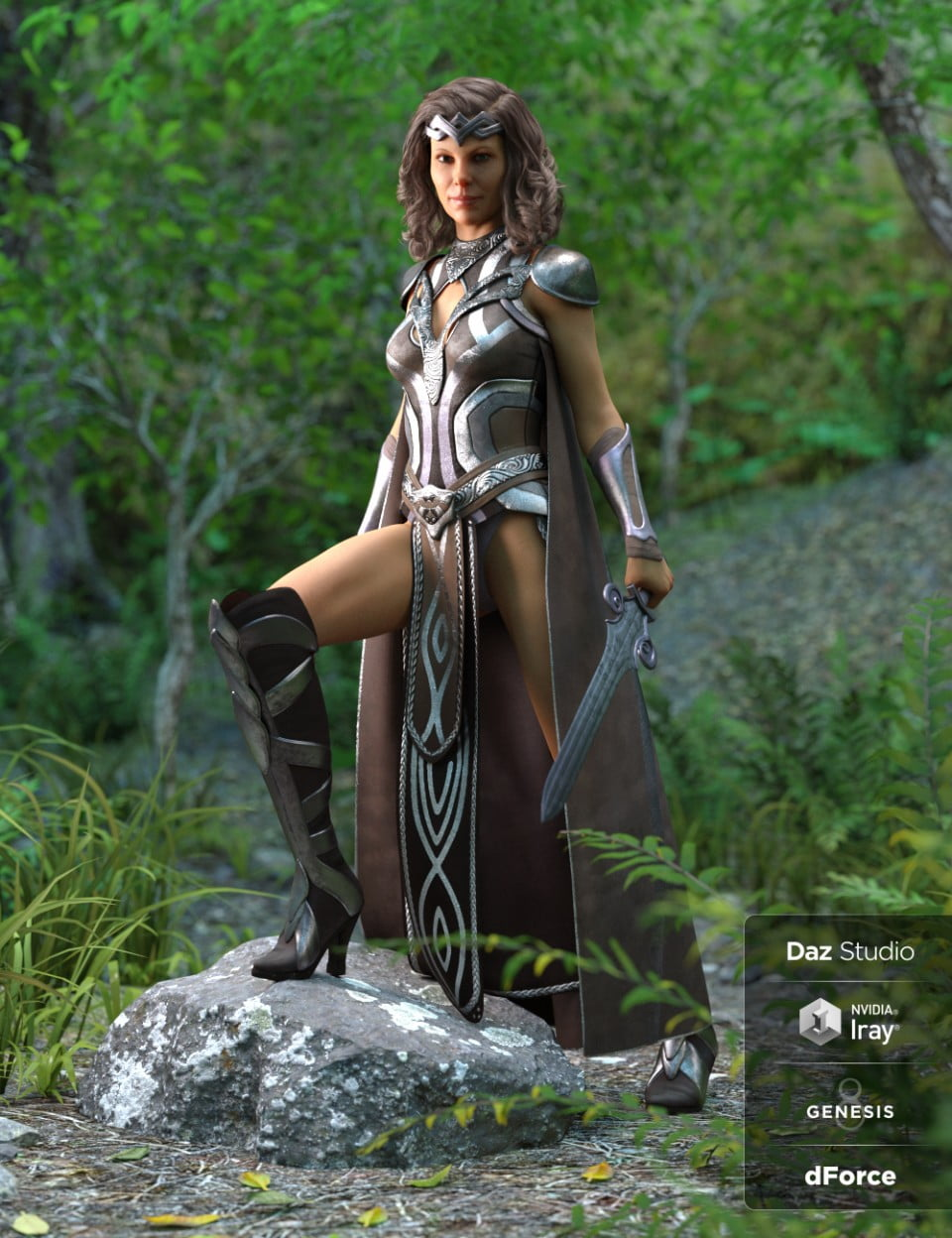 dForce Warrior Queen Outfit for Genesis 8 Female(s)