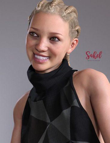Sahel HD & Signature Smile HD Expression for Genesis 8 Female
