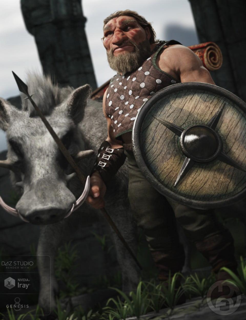 Bolnnar the Dwarf for Genesis 8 Male(s) - character, daz-poser-carrara
