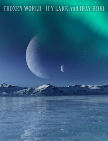 Frozen World - Icy Lake and Iray HDRI
