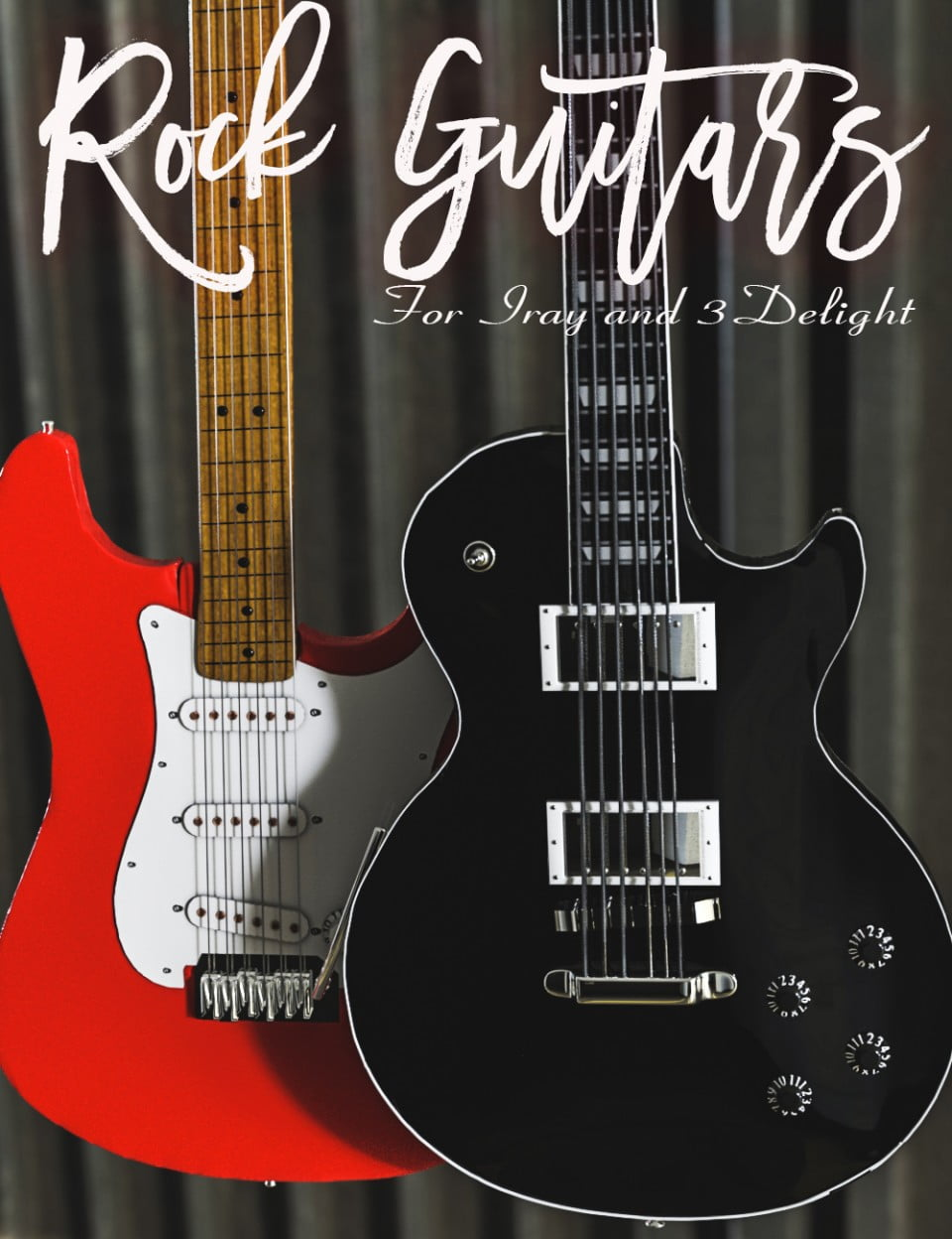 Rock Guitars for Iray and 3Delight