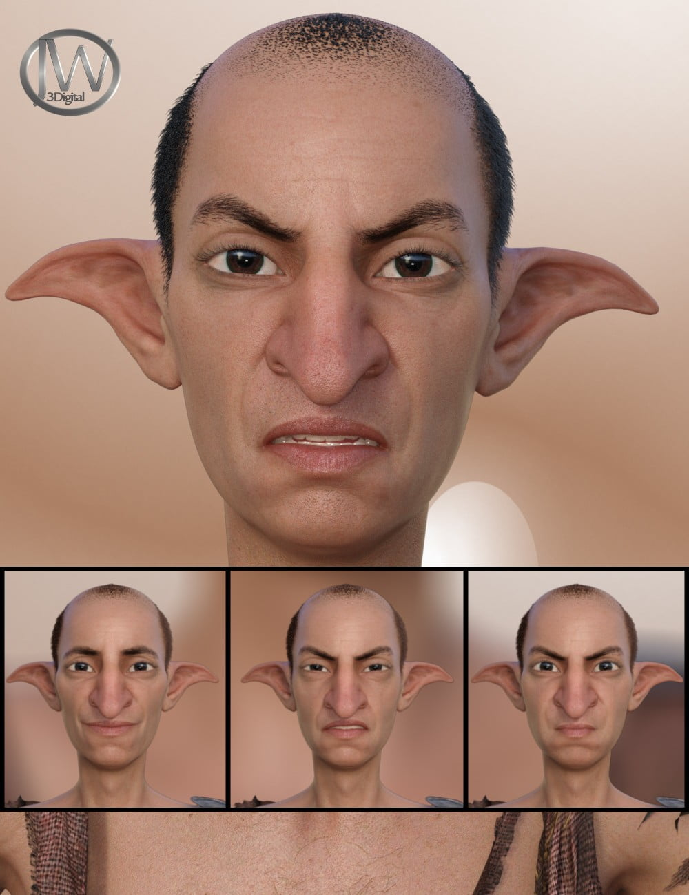 He's Grumpy - Expressions for Genesis 8 Male(s) and Ollie 8