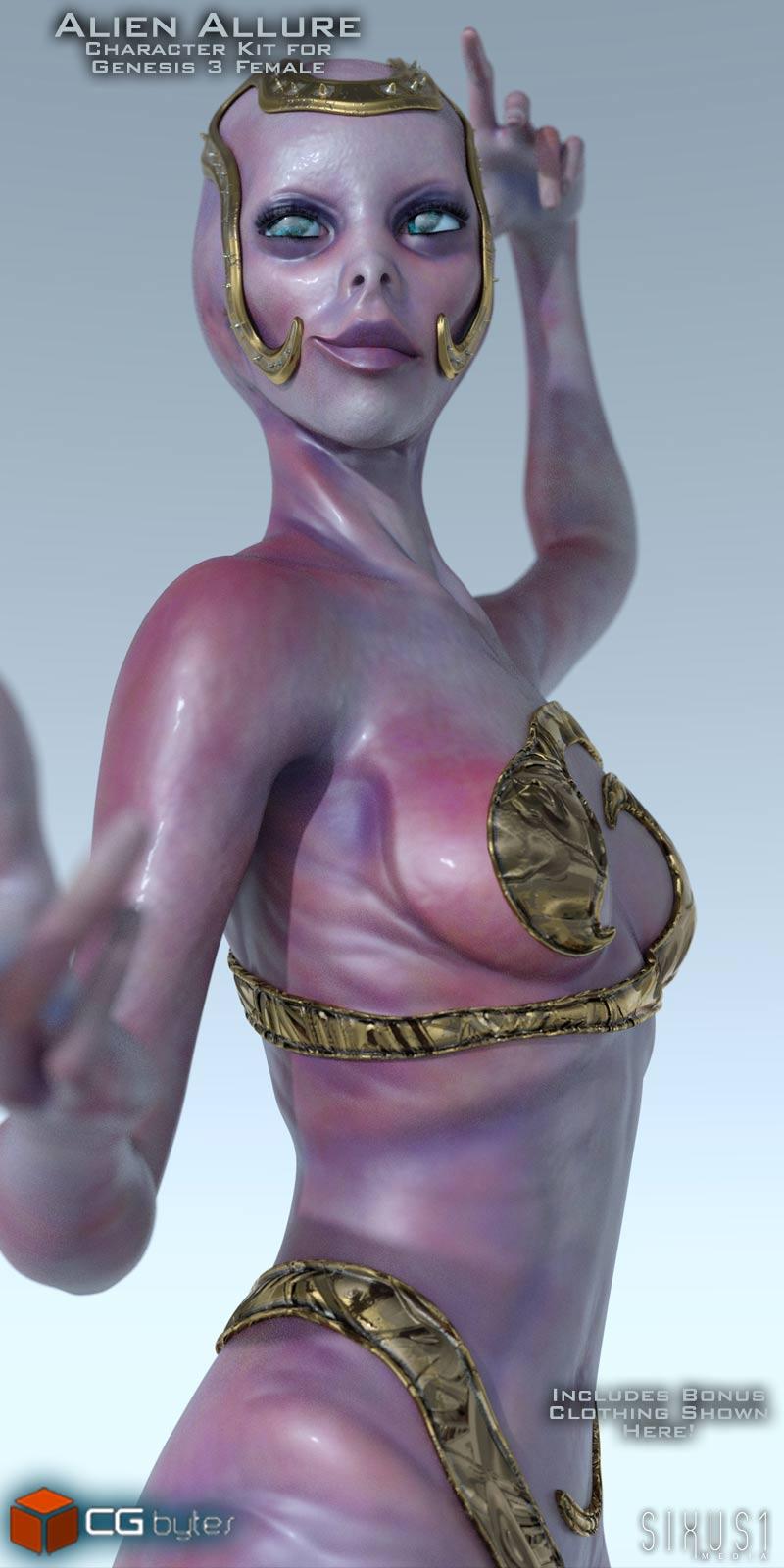 ArtDev Alien Allure For G3F - character, daz-poser-carrara