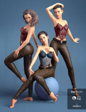 Capsces Poses and Expressions for Aiko 8 and Genesis 8 Female