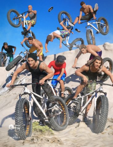 Dirt Bike Poses for Genesis 8 Male