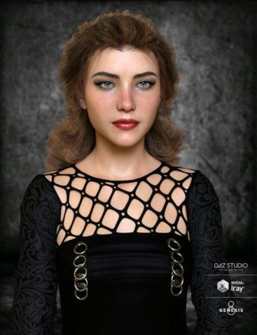 Jolie Hair for Genesis 3 and Genesis 8 Female(s)